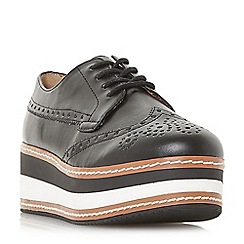 Steve Madden - Black leather 'Greco' platform lace-up shoes