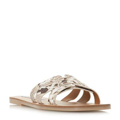 Steve Madden - Natural leather 'Sicily' mule slippers