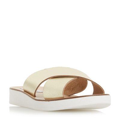 Steve Madden - Gold leather 'Trent' mule sandals
