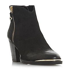 Steve Madden - Black leather 'Francy Steve Madden' mid block heel ankle boots