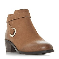 Steve Madden - Dark tan leather 'Owald Steve Madden' mid block heel ankle boots