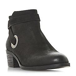 Steve Madden - Black leather 'Yersey Steve Madden' mid block heel ankle boots
