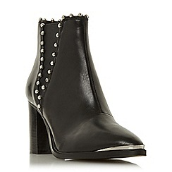 Steve Madden - Black leather 'Himmer Steve Madden' block heel ankle boots