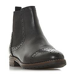 Dune - Black leather 'Wf queston' wide fit chelsea boots