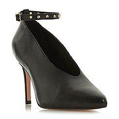 Dune - Black leather 'Ara' high stiletto heel court shoes