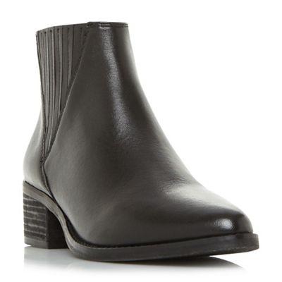 Steve Madden - Black leather 'Always Steve Madden' mid mid mid block heel ankle boots 17ba93