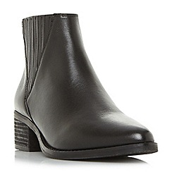 Steve Madden - Black leather 'Always Steve Madden' mid block heel ankle boots