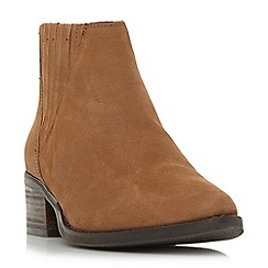 Steve Madden - Camel leather 'Always Steve Madden' mid block heel ankle boots