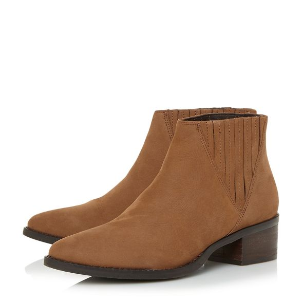 leather ankle mid Steve Steve heel Camel 'Always boots Madden Madden' block qExCnUfB6w