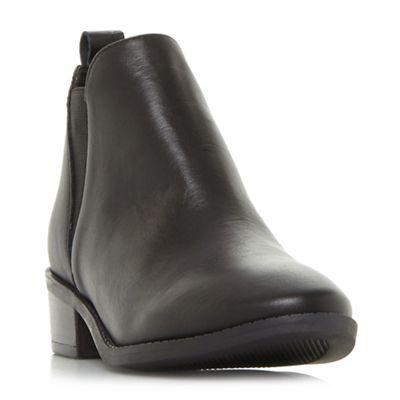 Steve Madden   Black Leather 'dante Steve Madden' Mid Block Heel Chelsea Boots by Steve Madden