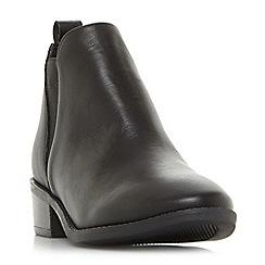Steve Madden - Black leather 'Dante Steve Madden' mid block heel Chelsea boots