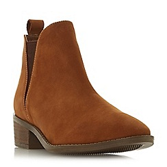Steve Madden - Taupe leather 'Dante Steve Madden' mid block heel ankle boots