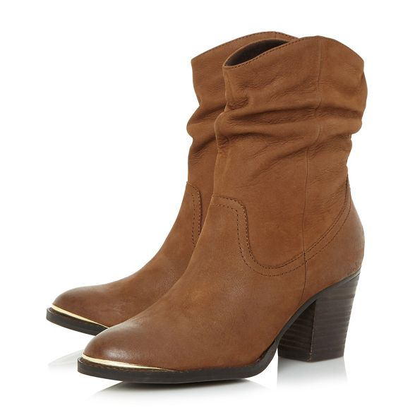 Steve mid heel 'Olya block boots Brown ankle nbsp; Madden' Steve Madden leather xfYIqwH