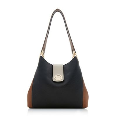 e918cdf87a Dune Black  Deannee  Colourblock Hobo Shoulder Bag