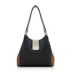 Dune - Black 'Deannee' colourblock hobo shoulder bag