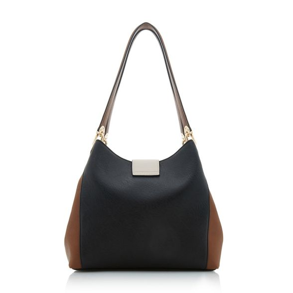 hobo 'Deannee' bag shoulder Dune colourblock Black O7qZAP