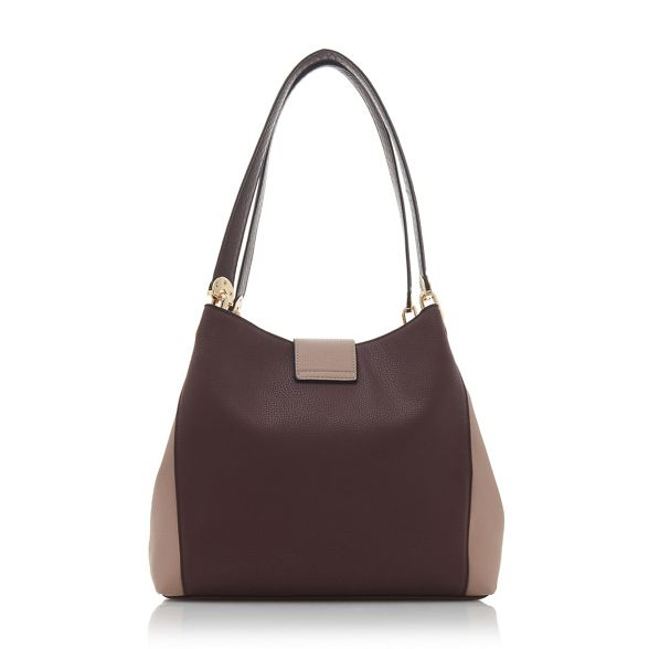 'Deannee' bag Dune shoulder hobo Dark red colourblock qrwxYEw7