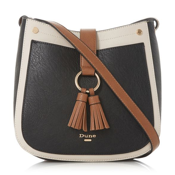 Dune tassel small body 'Doory' bag double Black cross 7Ipzqwr47x