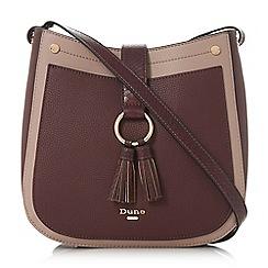 Dune Dark Red Doory Small Double Tassel Cross Body Bag