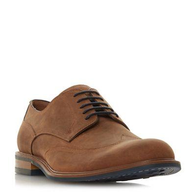 Dune - Tan 'Bache' wingtip brogue shoes
