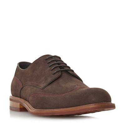 Dune - Brown 'Bache' wingtip brogue shoes
