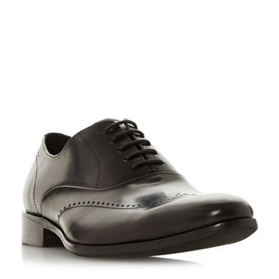 Dune - Black 'Perivale' punched wingtip oxford shoes
