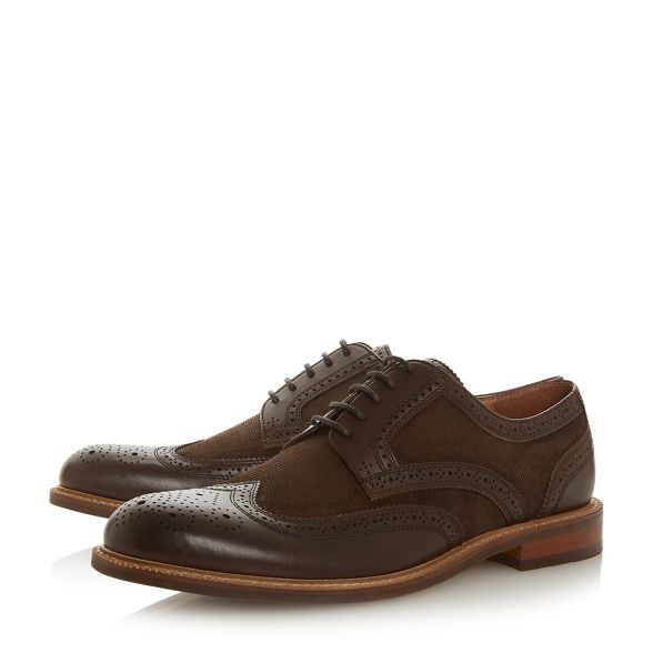 Dune 'Pillar' shoes material brogue mixed Brown FgOFxwqH6
