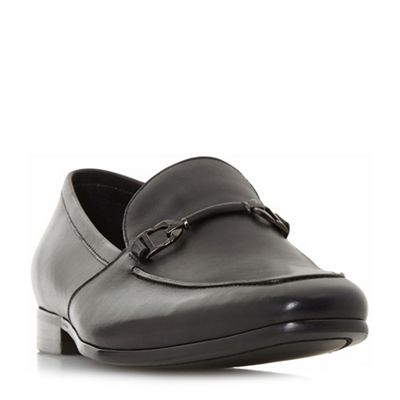 Dune - Black 'Paulinho' unlined snaffle loafers