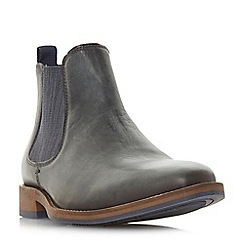 Dune - Grey 'Conor' leather Chelsea boots