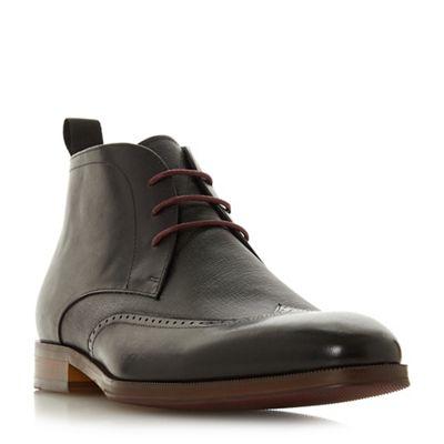 Dune - Black boots 'Malone' round toe chukka boots Black 921152