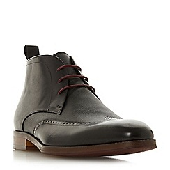 Dune - Black 'Malone' round toe chukka boots
