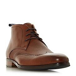 Dune - Tan 'Malone' round toe chukka boots