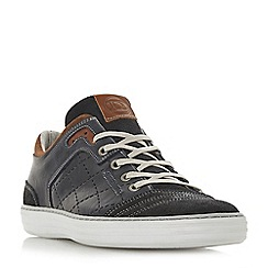 Dune - Navy 'Tufnell' quilted detail trainers