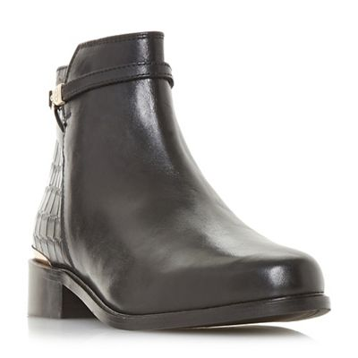 Dune - Black leather 'Payeton' Chelsea boots