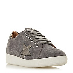 Dune - Grey leather 'Edris' casual trainers