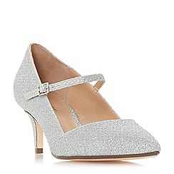 Roland Cartier - Silver 'Audrey' kitten heel court shoes