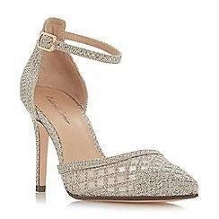 Roland Cartier - Gold 'Dolli' high stiletto heel ankle strap sandals