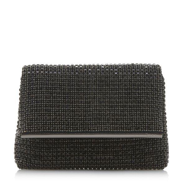 'Everlina' Dune Black bag clutch embellished diamante UfqW0nOqS