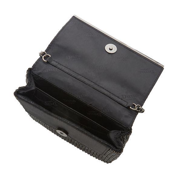 Dune embellished Black diamante bag clutch 'Everlina' AwAgYqr