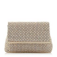Dune - Ivory 'Everlina' diamante embellished clutch bag