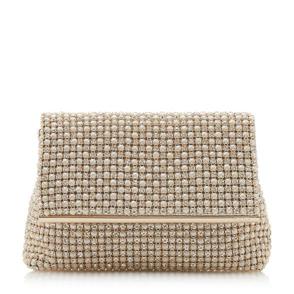bag Dune diamante embellished Ivory clutch 'Everlina' vwCUx7qP
