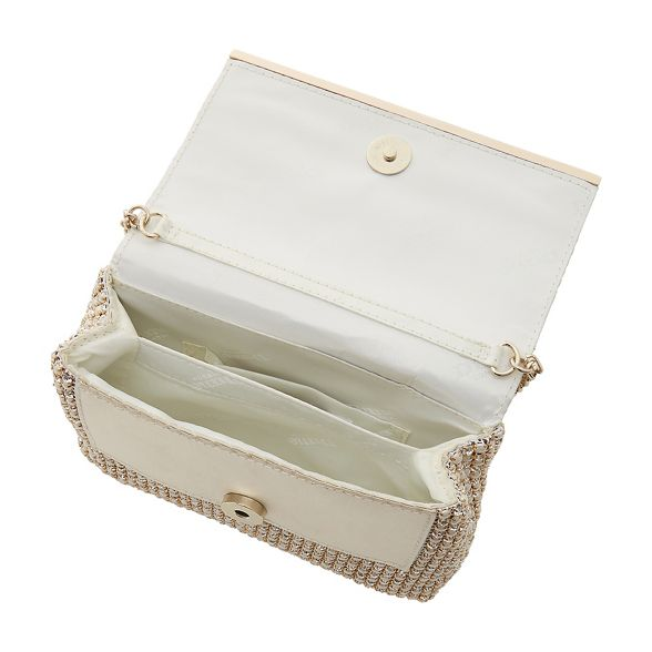 'Everlina' Ivory embellished bag clutch diamante Dune q1yBO6RBK