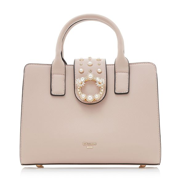 'Duigley' bag tote embellished stud pink Light Dune q7wzTEH