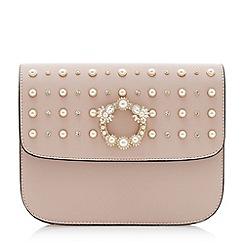Dune - Light pink 'Duddy' stud embellished clutch bag