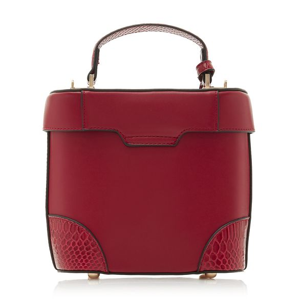 Dune bag vanity Red top 'Duffie' small handle POqHYPrw