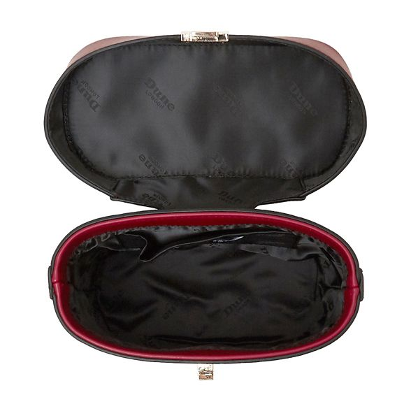 Dune handle Red small top vanity 'Duffie' bag apaqz
