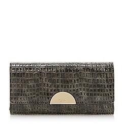 Dune - Grey 'Kaandelion' semi circle hardware purse