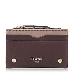 Dune - Dark red 'Keanne' colourblock purse