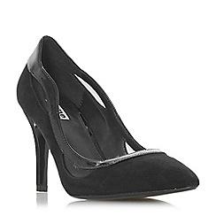 Dune - Black suede 'Brylee' high stiletto heel court shoes