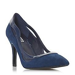 Dune - Navy suede 'Brylee' high stiletto heel court shoes